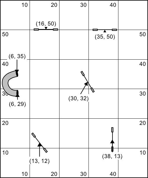 Couse Setup Diagram for a 50 x 60 space