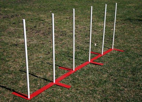Alternating Foot Weave Poles