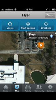Tagg App Map