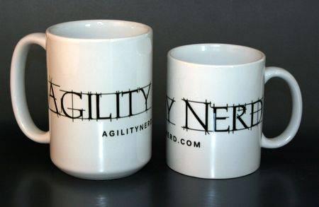 Block font mug
